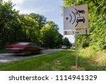 speed limit speed camera sign... | Shutterstock . vector #1114941329