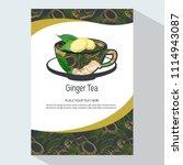 tea branding with ginger root... | Shutterstock .eps vector #1114943087