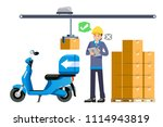 check the product before send... | Shutterstock .eps vector #1114943819