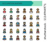 occupation avatars   thin line... | Shutterstock .eps vector #1114944971