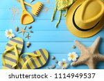 composition with beach... | Shutterstock . vector #1114949537