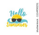 hello summer banner with... | Shutterstock .eps vector #1114950251