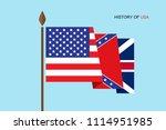 history of america. vector... | Shutterstock .eps vector #1114951985
