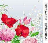 vintage floral vector... | Shutterstock .eps vector #1114952831
