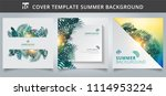 template brochure cover summer... | Shutterstock .eps vector #1114953224