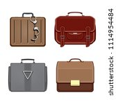 set of trendy briefcases... | Shutterstock .eps vector #1114954484
