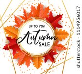 vector autumn sale banner with... | Shutterstock .eps vector #1114956017