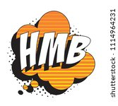 abbreviation hmb  hit me back ... | Shutterstock .eps vector #1114964231