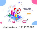 agency and digital marketing... | Shutterstock .eps vector #1114965587