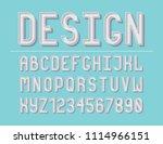 modern line alphabet. hipster... | Shutterstock .eps vector #1114966151