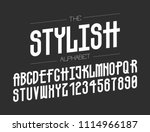 the modern line font for great... | Shutterstock .eps vector #1114966187
