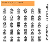 national costumes   thin line... | Shutterstock .eps vector #1114966367