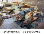 pineapples of agave  hearts of...   Shutterstock . vector #1114970951