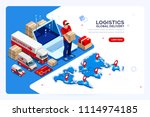 industry of shipment  web... | Shutterstock .eps vector #1114974185