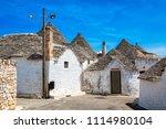 town of alberobello  village... | Shutterstock . vector #1114980104