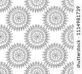 decorative circles  seamless... | Shutterstock .eps vector #1114981739