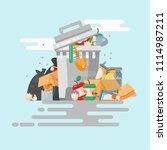 garbage container vector... | Shutterstock .eps vector #1114987211