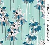 floral vector seamless pattern ... | Shutterstock .eps vector #1114989881