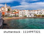 sea landscape with cadaques ... | Shutterstock . vector #1114997321
