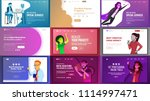 main web page set design vector.... | Shutterstock .eps vector #1114997471
