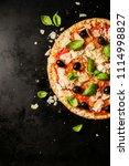 top view of tasty appetizing...   Shutterstock . vector #1114998827