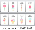 collection of ice cream... | Shutterstock .eps vector #1114999607