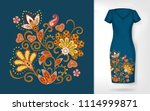 embroidery colorful trend... | Shutterstock .eps vector #1114999871