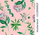 seamless pattern of watercolor... | Shutterstock . vector #1115000819