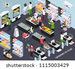 supermarket of future isometric ... | Shutterstock .eps vector #1115003429