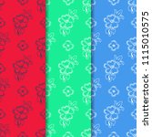 flower seamless pattern | Shutterstock .eps vector #1115010575