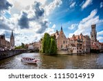 brugge  belgium   13 august ... | Shutterstock . vector #1115014919