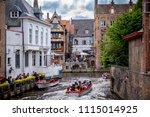 brugge  belgium   13 august ... | Shutterstock . vector #1115014925