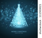 christmas tree from light... | Shutterstock .eps vector #111503021