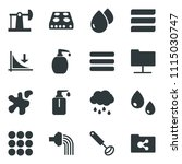 black vector icon set down...