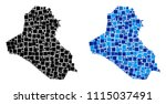 dotted iraq map variants.... | Shutterstock .eps vector #1115037491