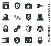 black vector icon set fence... | Shutterstock .eps vector #1115040161