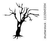 tree silhouette icon  vector | Shutterstock .eps vector #1115045354