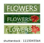 flower shop. variants of a...   Shutterstock .eps vector #1115045564
