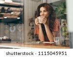 portrait of young woman... | Shutterstock . vector #1115045951
