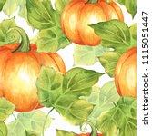 Orange Pumpkins. Seamless...