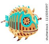 illustration of a robot fish... | Shutterstock .eps vector #1115054597