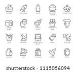 20 linear icons of drinks and... | Shutterstock .eps vector #1115056094
