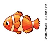 colorful sea fish.  clown fish... | Shutterstock .eps vector #1115056145