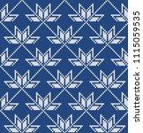 wool sweater design. fairisle... | Shutterstock .eps vector #1115059535
