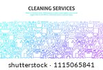 cleaning services concept.... | Shutterstock .eps vector #1115065841