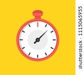 stopwatch icon. vector... | Shutterstock .eps vector #1115065955