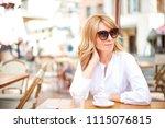 portrait of attractive middle... | Shutterstock . vector #1115076815