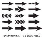 black arrow icons set....   Shutterstock .eps vector #1115077067