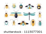bundle of different colorful... | Shutterstock .eps vector #1115077301