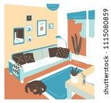 interior of living room full of ... | Shutterstock .eps vector #1115080859